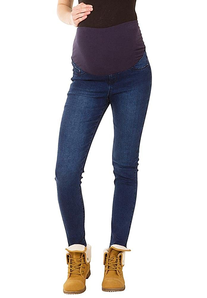 Slim Stretch Maternity Jeans - Blue Cindy H Jeans