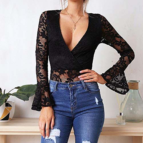 Interior Leotardo Negro Mujeres Jumpsuit Rompers Ropa Dormir fxFZqaaw
