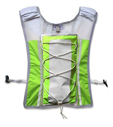 Roadnoise Long Haul Vest Running and Cycling Vest with speakers. Safer running and riding with music. (Hi Vis Green, X-Small/Small) by Roadnoise (Image #6)