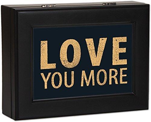 いいスタイル Typography Love Love You More Cottage Cottage Garden Matte by Black Finish Jewelry Music Box Plays Song You Light Up My Life by Cottage Garden B00KMBRVGS, ビッグアメリカンショップ西条:b8998df4 --- arcego.dominiotemporario.com