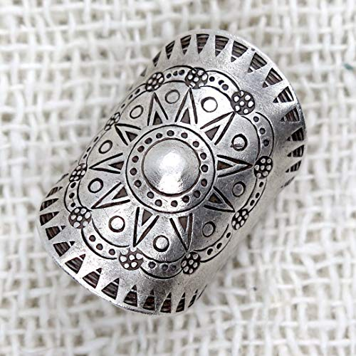 Handmade Ring Statement - Sterling Silver Boho Wide Statement Ring,