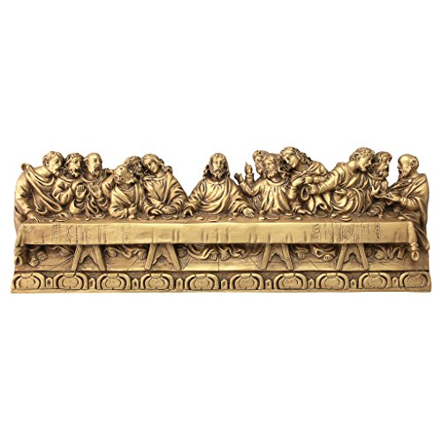 Design Toscano Last Supper Detailed Version, Leonardo Da Vinci Wall Sculpture ()