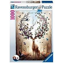 Ravensburger- Magischer Hirsch 1000 Teile Erwachsenenpuzzle Puzzle Piezas Fantasy, Multicolor (15018)