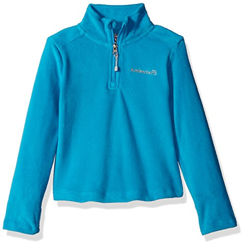Avalanche Big Girls' Quarter Zip Fleece Pullover Top, Aqua Touch, 14/16