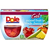 Dole Fruit Bowls, Mixed Fruit in Black Cherry Gel, 4.3 Ounce (Pack of 4)