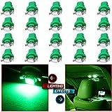 honda accord clock light bulb - CCIYU Set of 20pcs Green 1SMD 5050 LED Bulb B8.5D Car LED Instrument Indicator Light Bulb C5W Side Interior Lamp