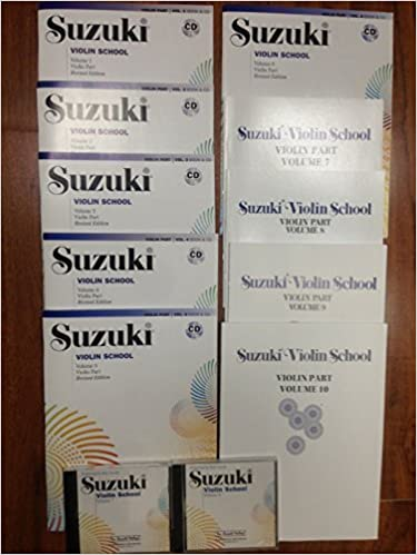 Suzuki Violin School Volume 1-10 Complete Set Book//CD FREE SHIPPING