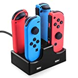 Nintendo Switch Joy-Con Charging Dock Station, Orbeet 4 in 1 USB Charger with LED Indicator for Nintendo Switch