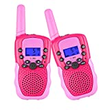 SnowCinda Toys for 3-12 Year Old Girls,Walkie Talkies for Kids with 22 Channels 2 Way Radio 3 Miles Long Range Toy for Outside Adventures, Best Gifts for 4-8 Year Old Boys and Girls