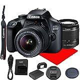 Canon EOS 4000D / Rebel T100 DSLR Camera w/Canon EF-S 18-55mm F/3.5-5.6 III Zoom Lens
