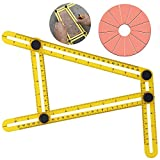 BLENDX Angle Measurement Tool - Angleizer Tile & Flooring Template Measure Ruler and Layout Tools for Handymen, Builders, Craftsmen and DIY-ers (yellow)