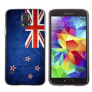 Cute Painting Slim pc Cover - Samsung Galaxy S5 ( New Zealand Grunge Flag )
