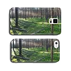 Early morning with sunrise in pine forest cell phone cover case iPhone6 Plus