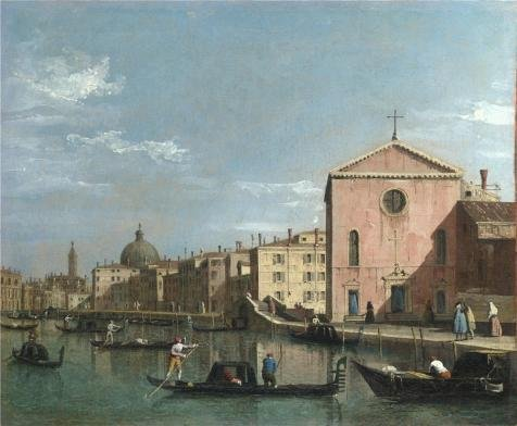 [High Quality Polyster Canvas ,the Imitations Art DecorativePrints On Canvas Of Oil Painting 'Follower Of Canaletto - Venice - The Grand Canal Facing Santa Croce,after 1738', 12x15 Inch / 30x37 Cm Is Best For Powder Room Gallery Art And Home Artwork And] (Kangaroo Costume Rental)