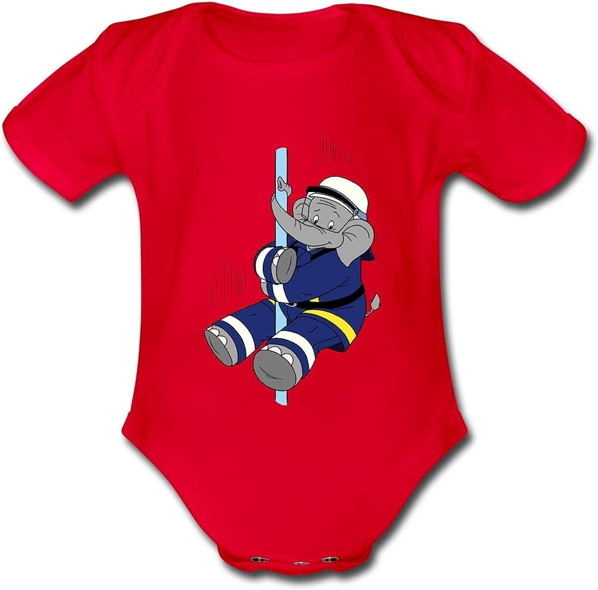 Spreadshirt Benjamin Bl/ümchen Beni Der Feuerwehrmann Baby Bio-Kurzarm-Body