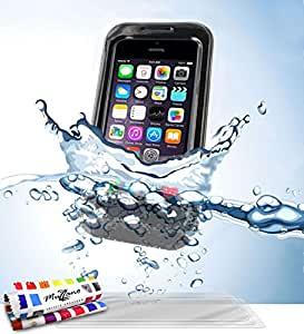Muzzano F2373316 - Funda para Apple iPhone 5S + 3 protecciones de pantalla, color negro