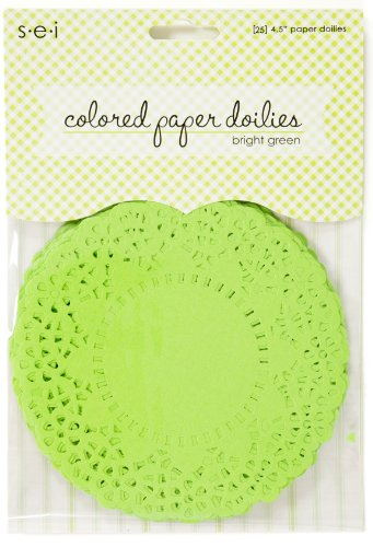 paper doilies colored - 2