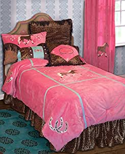 Carstens Cowgirl Leopard Bedding Set, Twin