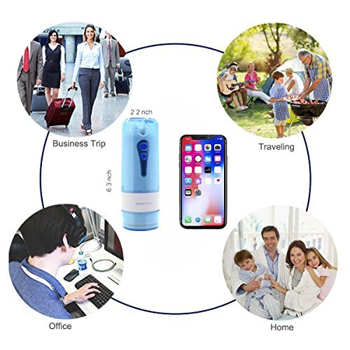 Water Flosser Cordless,Portable Rechargeable Oral Irrigator,Dental Water Flosser with 5 Jet Tips & 4 Modes(include nose clean),for Home & Travel,Oral & Nose Care(FDA Approved) by LIVEKEY (Image #7)