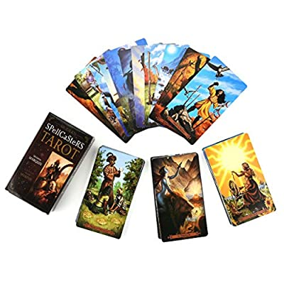 ballboU 78pcs Modern Tarot Full English Tarot Cards Deck Family Party Board: Home & Kitchen