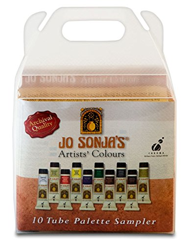 - Jo Sonja's Artists' Colours Sampler Set of 10 20 ml Tubes - Assorted Colors