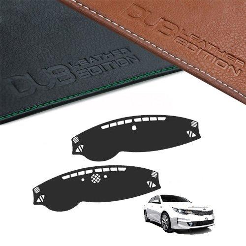 Custom Made Leather Edition Premium Dashboard Cover For Kia Optima K5 2016 2017 (Black Leather)
