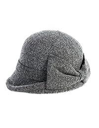 Siggi Womens 1920s Vintage Wool Felt Cloche Bucket Bowler Hat Winter Crushable