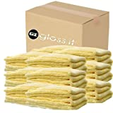Gloss-it (YMFDT-Case) Yellow Microfiber Drying Towel, (Pack of 24)