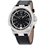 Victorinox Men's 241665 Swiss Army Night Vision Dark Grey Dial Black Ice PVD Steel Watch
