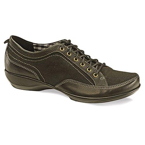 Aetrex Mujeres Lauren Oxfords Zapatos Negro Lona / Cuero