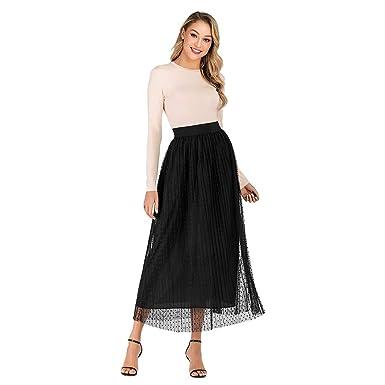 Faldas Mujer Largas Verano 2019 Elegante Tallas Grandes PAOLIAN ...
