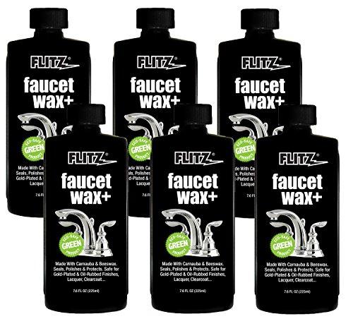 Flitz PW 02685-6A Faucet Wax Plus, 7.6 oz. Bottle, 6-Pack