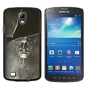 Negro Blanco vintage retro de la foto- Metal de aluminio y de plástico duro Caja del teléfono - Negro - Samsung i9295 Galaxy S4 Active / i537 (NOT S4)