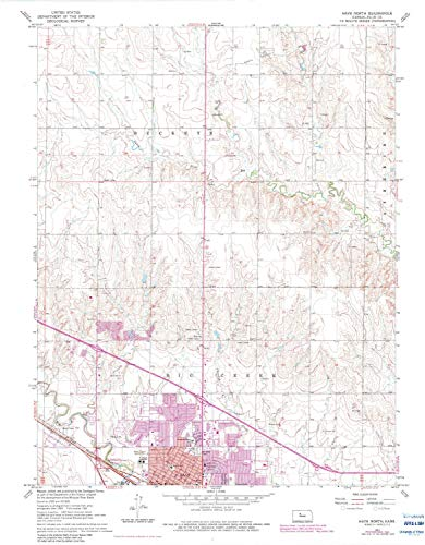 (YellowMaps Hays North KS topo map, 1:24000 Scale, 7.5 X 7.5 Minute, Historical, 1961, Updated 1983, 27.08 x 21.11 in - Paper)