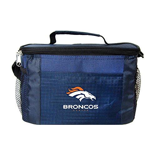 Broncos Lunch (NFL Denver Broncos Team Logo 6 Can Cooler Bag or Lunch Box - Blue)