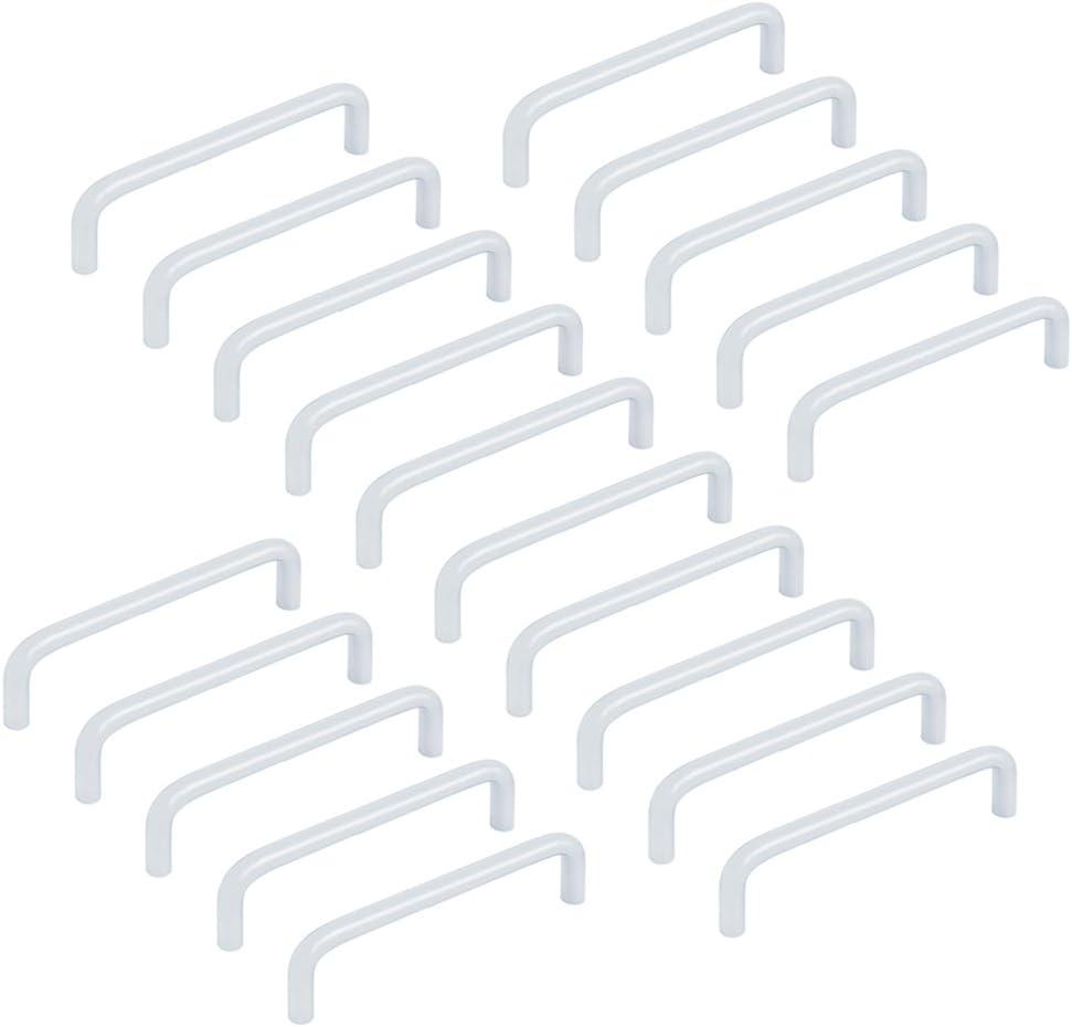 acier chrom/ée mat CC 96mm Emuca 9163364 Poign/ée pour meuble diam/ètre /Ø8mm Set de 20 pi/èces