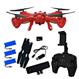 Hover-Way Alpha PRO with HD 720P CAMERA + LIVE VIEW via Controller - Red