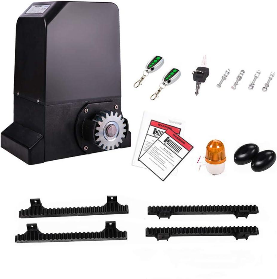 Topens - Mecanismo de puerta corredera con mando a distancia, apertura automática para puerta de patio y garaje, incluye 2 mandos. 370.00W
