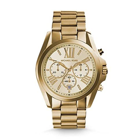 Michael Kors Women's Bradshaw Gold-Tone Watch MK5605 (Michael Kors Bradshaw Watch 43mm)