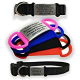 Durable Waterproof Pet ID Tags for Collars - Free Engraving - Hypoallergenic Silicone Attachment with 30mm Plate Dog ID, Cat ID, Animal ID (Black)