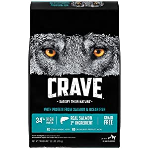 Crave Grain Free Adult Dry Dog Food With Protein From Salmon and Ocean Fish, 22 lb
