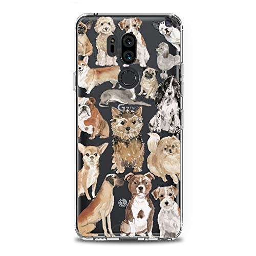 Lex Altern LG TPU Case G7 Fit One ThinQ G6 V40 V35 Plus V30 V20 Q8 K8 Dog Cute Cover Silicone Durable Print Protective Kid Girl Design Puppy Animal Transparent Women Teen Good Corgi Clear Pomeranian ()