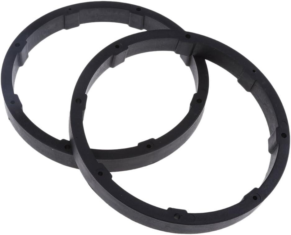 2X 6.5 Solid Plastic Speaker Spacer Adaptor Ring Mounting Bracket for Car