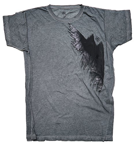 Rock & Republic Abstract Wing Distressed Burn Out Grey T-Shirt (XL)