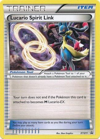 Pokemon Singles - Lucario Spirit Link - XY211 - XY - Pokemon Link