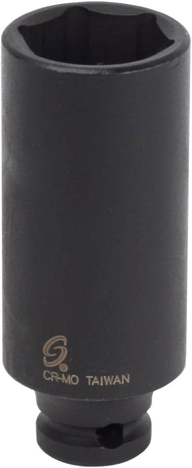 Sunex 812mdmg 1//4-Inch Drive 12-Mm Deep Magnetic Impact Socket