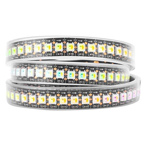 BTF-LIGHTING RGBW RGB+Cool White SK6812 (Similar WS2812B) Individually Addressable 3.3ft 1m 144LEDs/pixels/m Flexible 4 Colors in 1 LED Dream Color LED Strip IP67 Tube Waterproof DC5V Black -