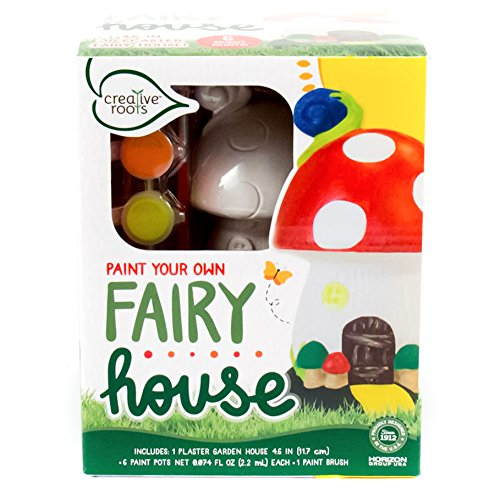 Creative Roots PYO Plaster Fairy House by Horizon Group USA