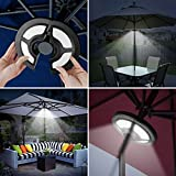 Solar Umbrella Lights Outdoor,AVEKI Patio Umbrella with Solar Lights 36 LED Super Bright Multi-Function Cordless Umbrella Pole Lights for Camping Tent Patio Garden Backyard (Black)
