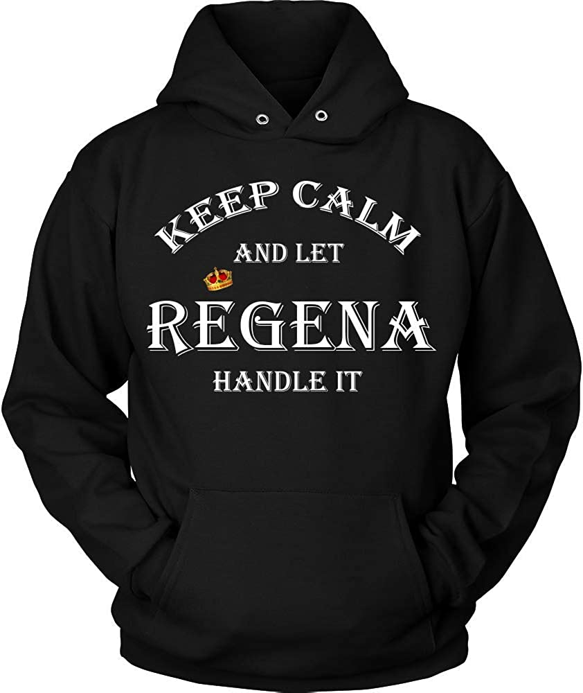 KENTEE Keep Calm and Let Regena Handle It 11oz Mug Gift Hoodie Black